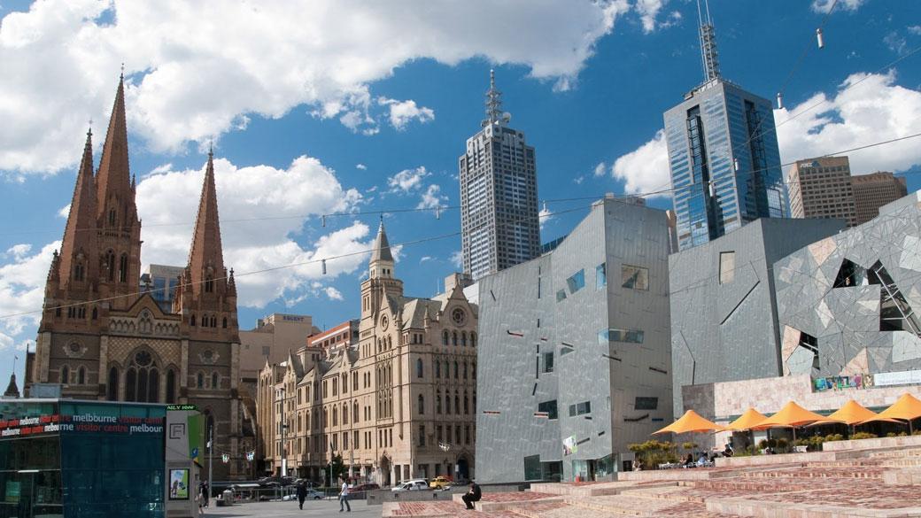 площадь федерации мельбурн австралия